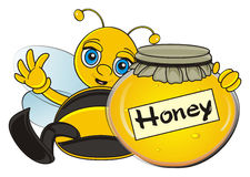 Bee hold a honey Stock Images