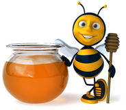 Bee and honey Royalty Free Stock Image