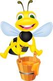 Bee with honey Royalty Free Stock Photos