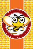 Bee and honey Royalty Free Stock Images