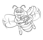 Bee Honey Cartoon Stock Photo
