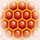 Bee honey cells. Background 2. Royalty Free Stock Photography