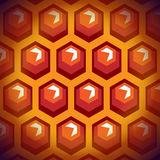 Bee honey cells. Background 1. Stock Image