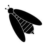 Bee honey insect insect pictogram Royalty Free Stock Photo