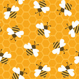 Bee with honey. Seamless pattern. Vector illustration stock illustration