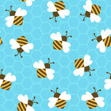 Bee with honey. Seamless pattern. Vector illustration royalty free illustration