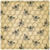 Bee honeycomb pattern Royalty Free Stock Photo