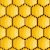 Bee honeycomb, yellow, hexagons texture, background vector vector illustration