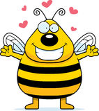 Bee Hug. A happy cartoon bee ready to give a hug royalty free illustration