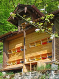 Bee hut Stock Photo