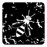 Bee icon, grunge style Royalty Free Stock Photography