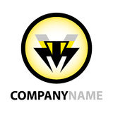 Bee icon and logo design Stock Image