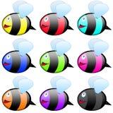 Bee Icon Set Royalty Free Stock Photos