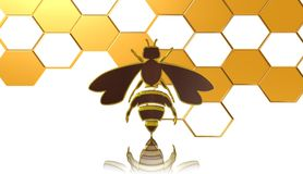 Bee,icon,sign,best 3D illustration. Bee,icon,best sign,best 3D illustration Stock Images