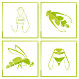 Bee icon Royalty Free Stock Photography