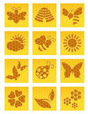 Bee icons Royalty Free Stock Images