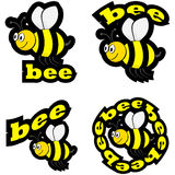 Bee icons Stock Photo