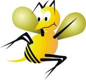 Bee illustration. Scared yellow Bee illustration cartoon Royalty Free Stock Image