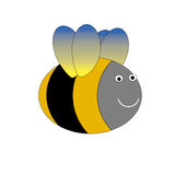 Bee illustration. Yellow and black bee illustration Stock Images
