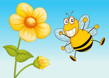 A bee. Illustration of a bee in a beautiful nature Stock Photo
