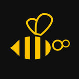 Bee illustration, icon Royalty Free Stock Images
