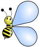 Stylized happy Bee cartoon Royalty Free Stock Photo