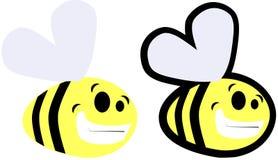 Set of cartoon Bee isolated royalty free stock photo