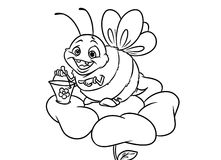 Bee insect coloring pages Royalty Free Stock Photo