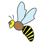 Bee Insect Poultry nature beast icon cartoon design abstract illustration animal Stock Image