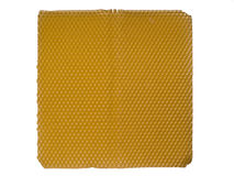 Bee keeper cells honeycomb. Nature realistic organic honeycomb on white background isolated royalty free stock image