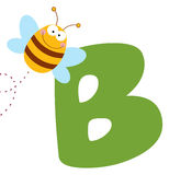 Bee with letters b Royalty Free Stock Photography