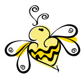 Bee logo. Illustration with bumble bee logo Stock Photo