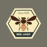 Bee logo Royalty Free Stock Photos