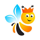 Bee logo Royalty Free Stock Image