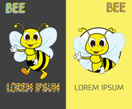 Bee Logo Design Concept. Abstract Creative Bee Icon. Stock Photo