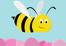 Bee. A bee is looking for sweet honey Stock Images