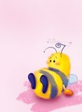 Bee in love. Dizziness from falling in love Stock Image
