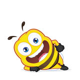 Bee lying down. Clipart picture of a bee cartoon character lying down Stock Image