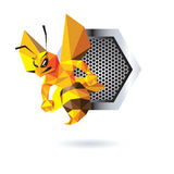 Bee Mascot Design Royalty Free Stock Photo
