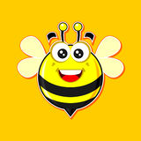 Bee mascot (mark2) Royalty Free Stock Photo