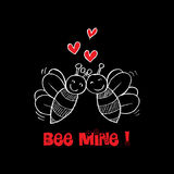 Bee Mine Valentine Royalty Free Stock Images