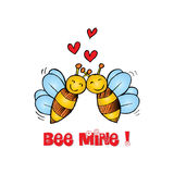 Bee Mine Valentine Royalty Free Stock Photography