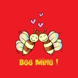 Bee Mine Valentine Stock Photo