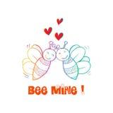 Bee Mine Valentine Royalty Free Stock Photos