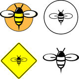 Bee mixed set stock illustration
