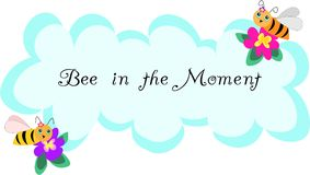 Bee in the Moment Royalty Free Stock Photography