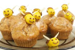 Bee muffins Stock Photography