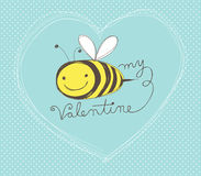 Free Bee My Valentine Card Stock Photo - 48282280