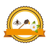 Bee natural product icon Royalty Free Stock Photo