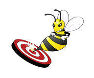 Bee On Target Royalty Free Stock Images